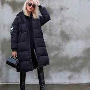 Kangol X H&M Black Long Puffer Coat Small New